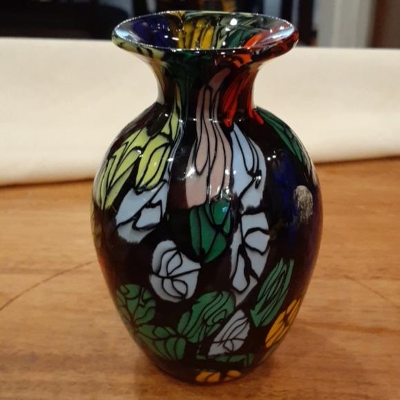 Handblown Art Glass Mini Vase